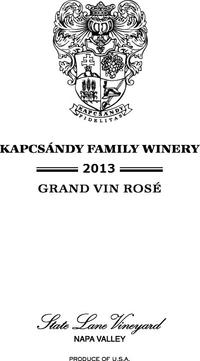 2013 Grand Vin Rosé