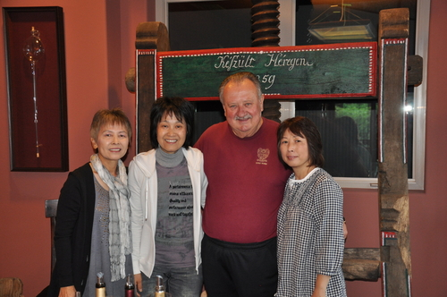 Three sisters from Japan visiting with Lou