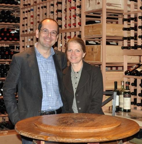 Winemaker Denis Malbec & wife May Britt