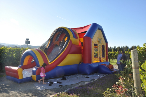 Big jumping house for all to enjoy
