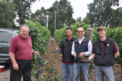 Lou, David, Denis and Louis at 2011 Post Veraison
