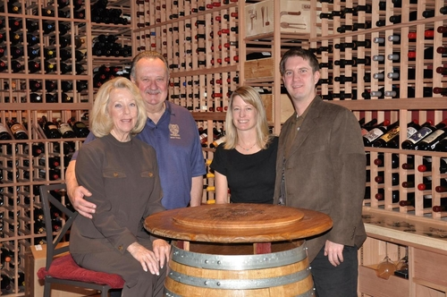 Lou, Roberta, Louis and Wendy in the Family Cellar