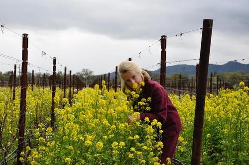Roberta in the Spring Vineyard